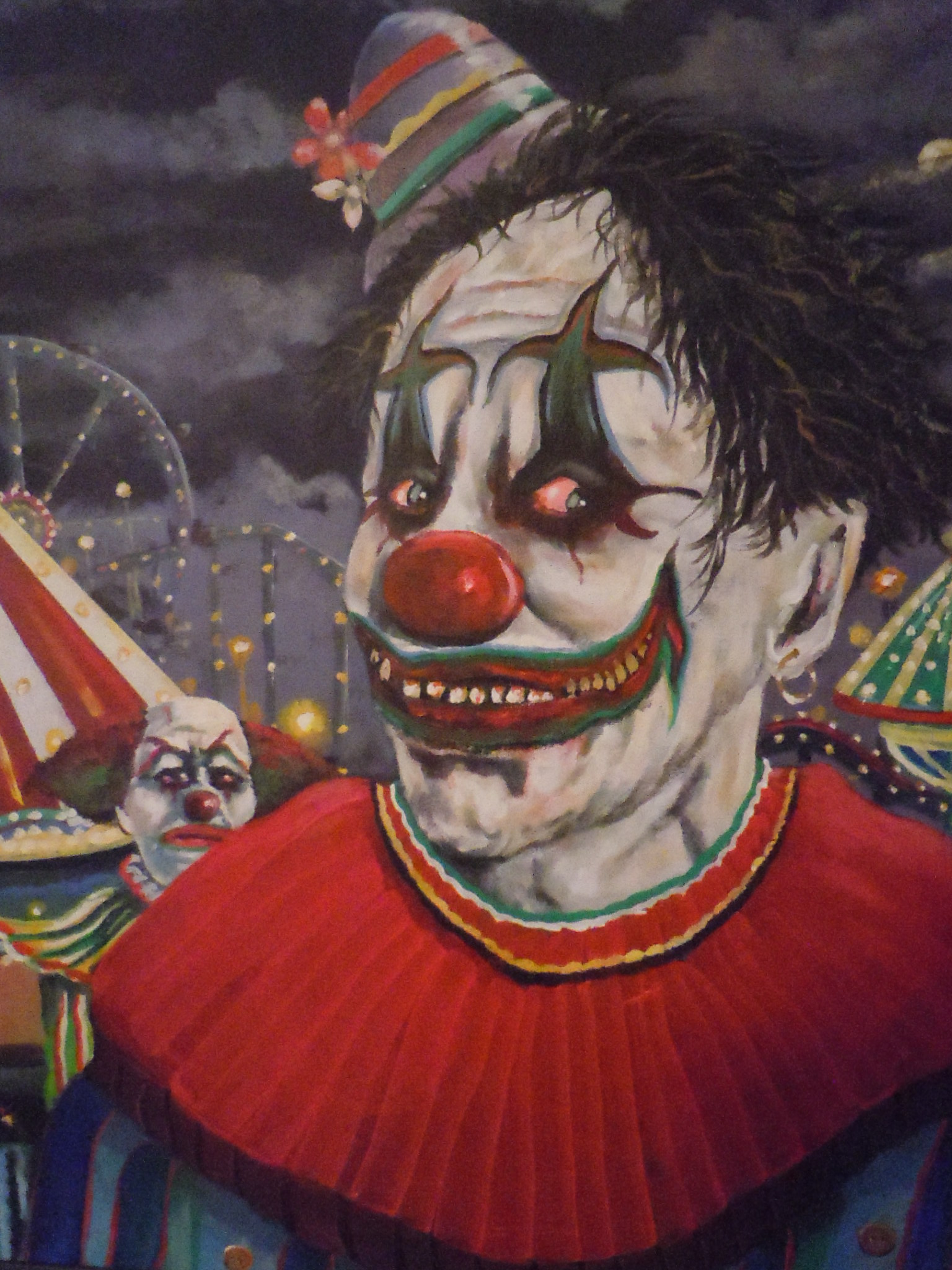 What are some examples of evil clown art?
